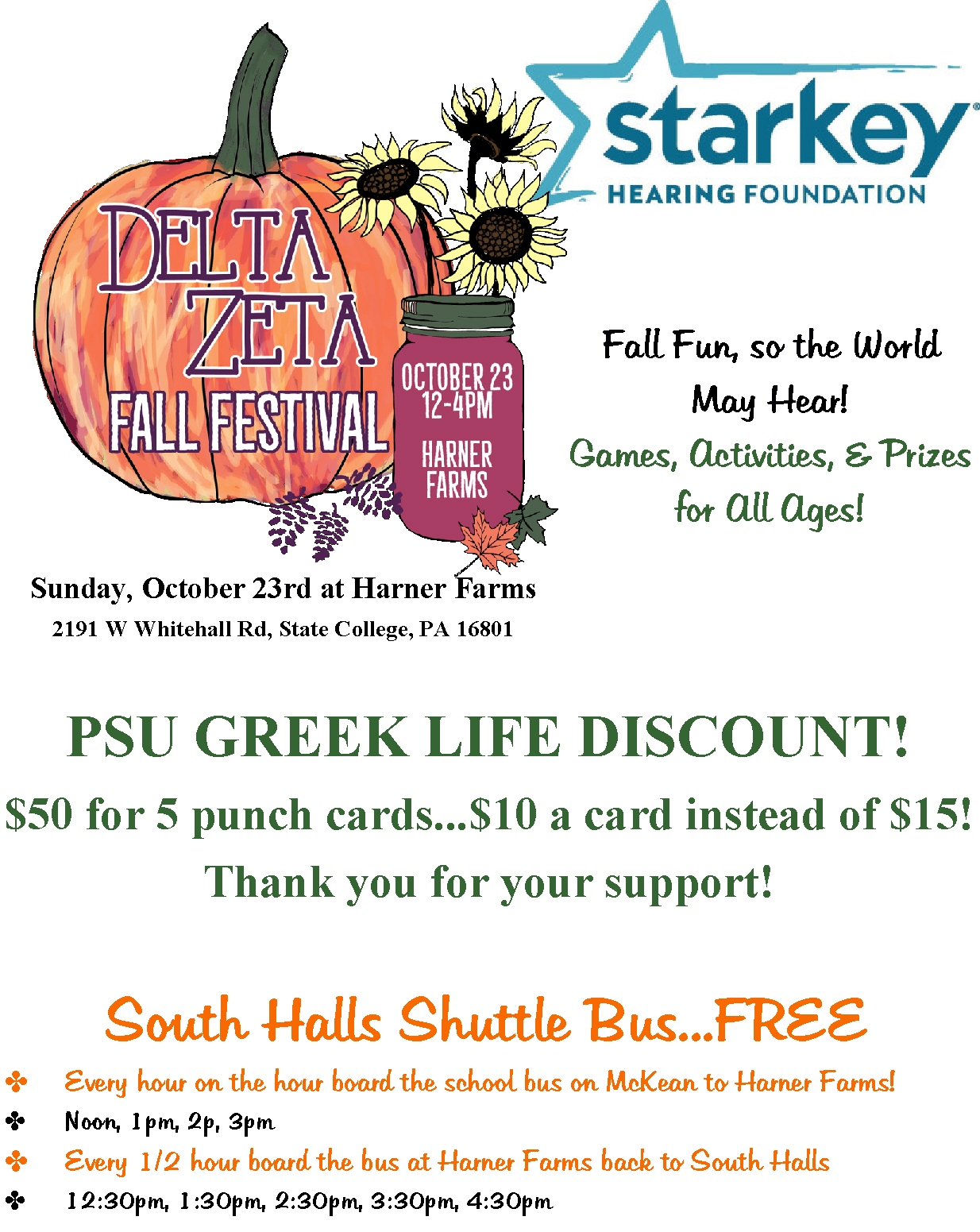 Greek Life Discount